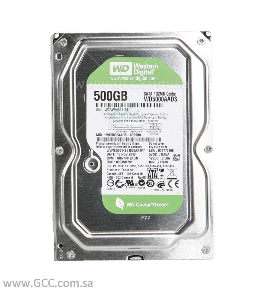 WD Green IntelliPower 3.5-inch - Desktop Internal Drive - 500GB