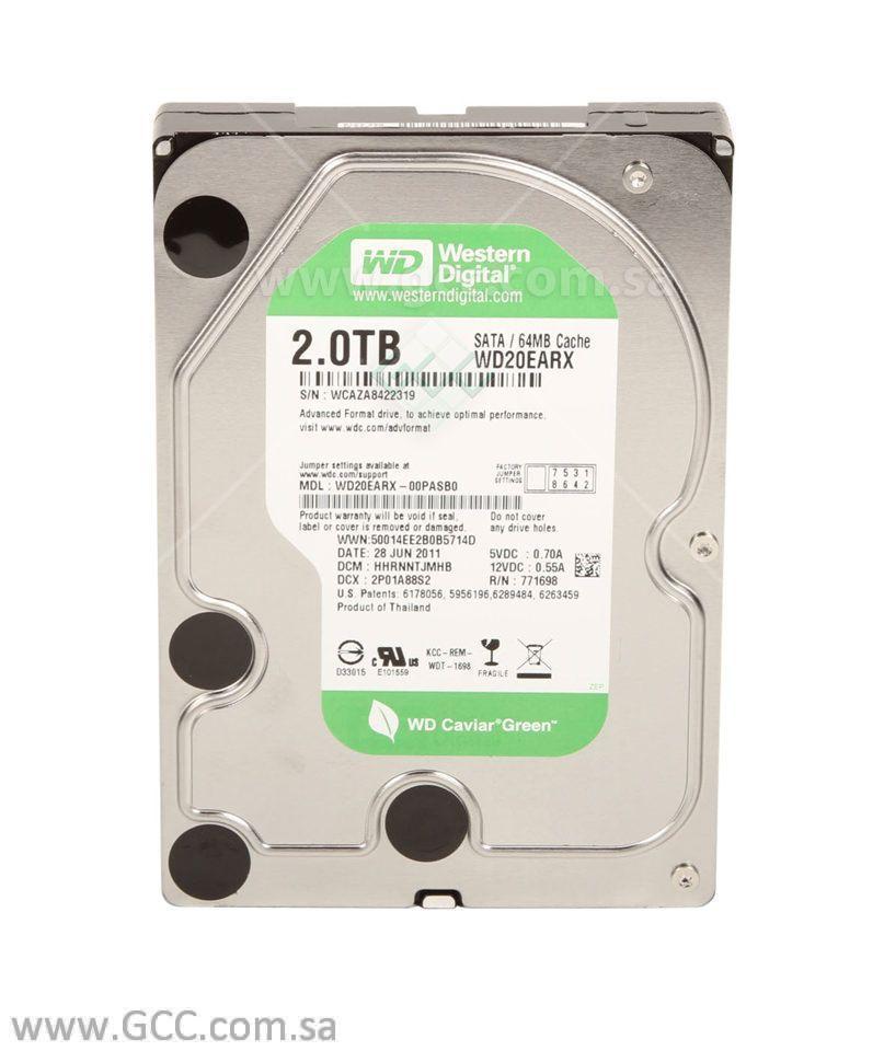 WD Green 2 TB Desktop Hard Drive 3.5 Inch SATA III 64 MB Cache